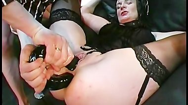 Kinky MILF in a hardcore piss and cum orgy