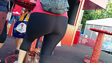 Deluciuos big ass latina milfs in tight lycra