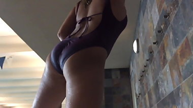 Ass at the pool