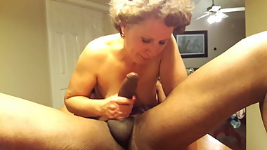 Shelly Sucks Big Black Cock on the Dinner Table