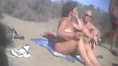 Dogging in the beach