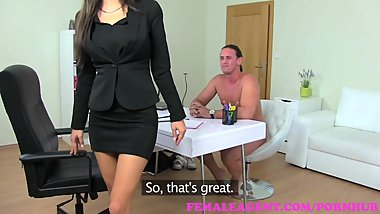 FemaleAgent. A former agents fuck becomes this sexy MILFs problem