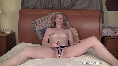 Tiny Boobed MILF Gypsy Toying Her Pussy