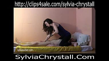 Cum on Yoga Panty Female Domination Handjob. Bj Queen Sylvia Chrystall C4S