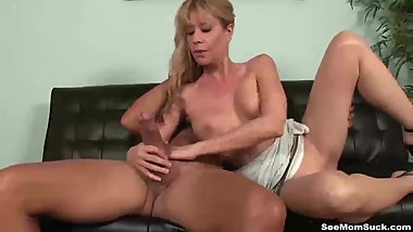 Hot mature lady blowjob