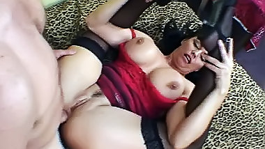 Big-tittied milf gets wet with her boyfriend