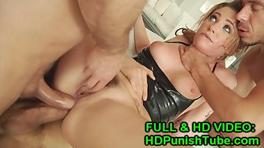 AHLIA SKY FIRST EVER DOUBLE VAGINAL ANAL TRIPLE PEN - WWW.HDPUNISHTUBE.COM