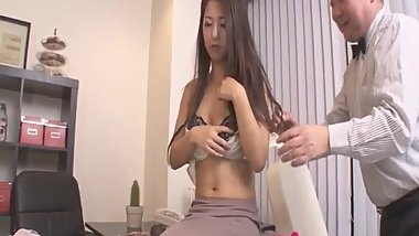 Asian babe, Satomi Suzuki, is ready to fuck her boss