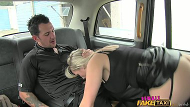 FemaleFakeTaxi Dirty Driver Swallows Copper's Cock