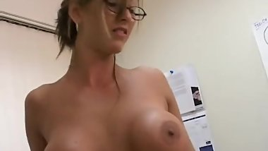 Milf Masturbates At Work