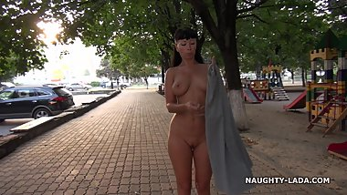 Nude on the public street