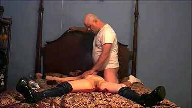 SMOKING MILF STRAPPED, TIED, AND PUSSY TORTURE