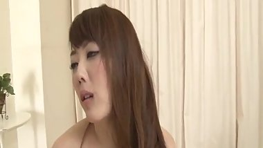 Cock sucking babe, Rei Furuse, endures harsh sex