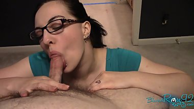 POV Ponytail Glasses Facial MILF BlackxRose92