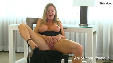 Big Breasted MILF Masturbating To An Intense Orgasm