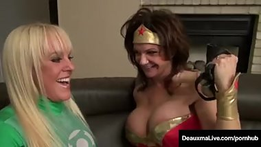 Dynamic Deauxma SUCKS & FUCKS Her Super Hero, Alexis Golden!