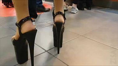 Extreme High Heels At McDonalds