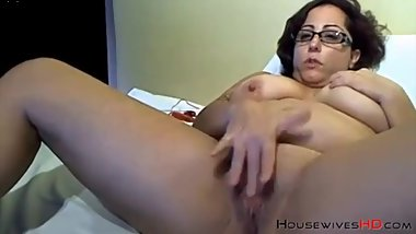 big ass granny in glasses on webcam