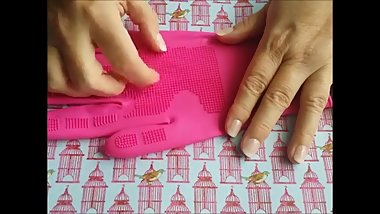 Grand Mother's Pink Silcone Punishing Gloves - Close Up POV ASMR