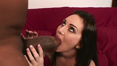 HORNY HOUSEWIFE TAKES BLACK COCK WHILE HUSBANDS AWAY