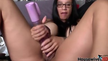Latina MILF in glasses with HUGE tits with piercing