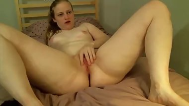 Chubby MILF fingering pussy while fucks ass