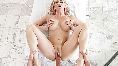 PureMature Busty MILF Rachel Roxxx gets her pussy massaged and fucked
