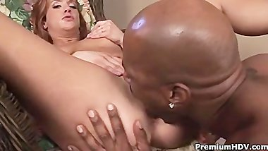 Gabriella Banks gets pleasured by black one