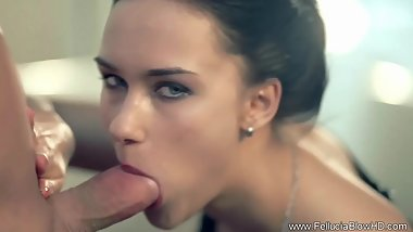 Graceful CFNM Blowjob Brunette