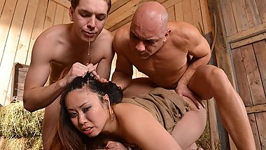 Nasty ass Tigerr Benson gets Bound, Fucked, & Pissed on