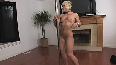 Bubble Butt MILF Stripper Makes Masturbation Video