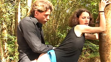 FRENCH MILF TAKE HER STEPSONS COCKS WHILE HIKING