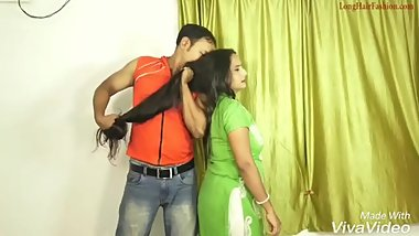 Hair Pulling and Smelling (Compilation) Desi Style - Love Hair Seduction