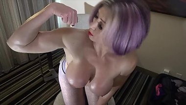 Dirty Talk Domme Fetish - Big TIt Goddess Rapture Muscle JOI