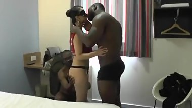 Indian wife hard fucked by 2 BBC to pay husband debt