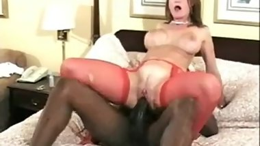 Married woman takes a very messy creampie from a BBC while husband films
