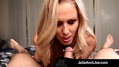 Milf of the Year Julia Ann Dons Black Gloves To Milk A Cock!