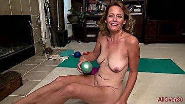 Jade Allan Yoga And Masturbation on AllOver30