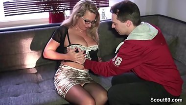 German MILF seduce Stranger Boy to Fuck from Scout69