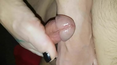 Foot job from Scottish wife