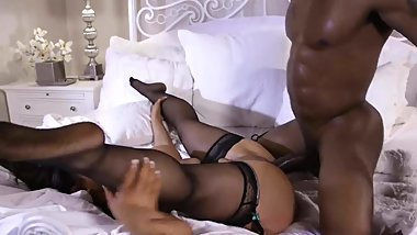 Raven Hart Fucked by her Black Stepson