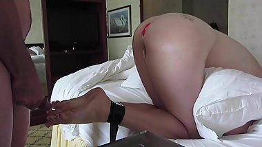 Fucking My Slave, Coming on Her Feet