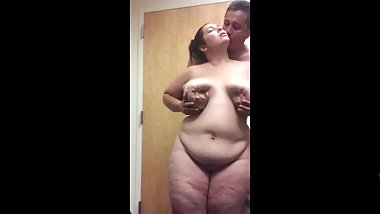 bbw wife being filmed while being fondled