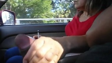 spanish woman plays with my dick for ride