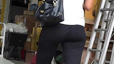 Spandex Hot Slim Ass Candid