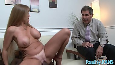 Cuckolding beauty punishes her husband