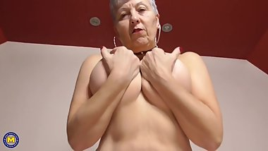 Grandmother with saggy boobs needs your cock