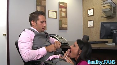Dicksucking milf screwed in the office
