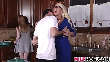Horny Stepmom Demands A Stiff Cock