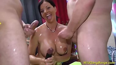 busty oiled german milf Dacada banged